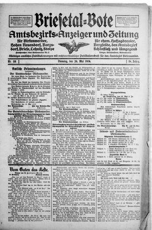 Briesetal-Bote vom 20.05.1919