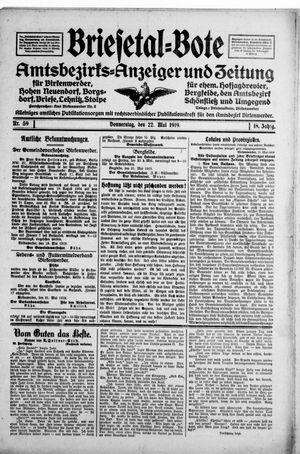 Briesetal-Bote vom 22.05.1919