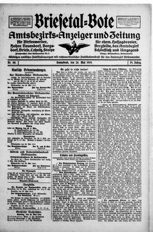 Briesetal-Bote vom 24.05.1919