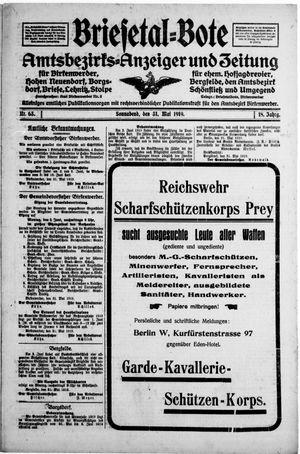 Briesetal-Bote vom 31.05.1919