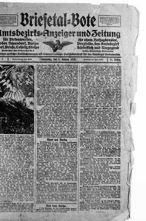 Briesetal-Bote vom 01.01.1920