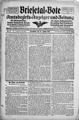 Briesetal-Bote on Jan 10, 1920