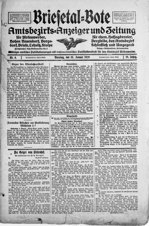 Briesetal-Bote vom 13.01.1920