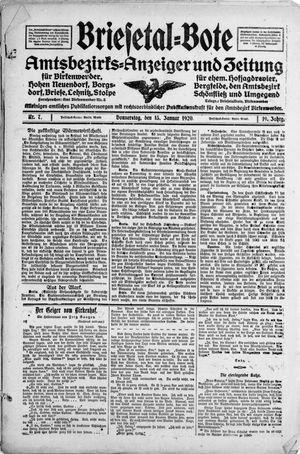 Briesetal-Bote vom 15.01.1920