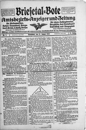 Briesetal-Bote vom 17.01.1920