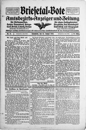 Briesetal-Bote vom 24.01.1920