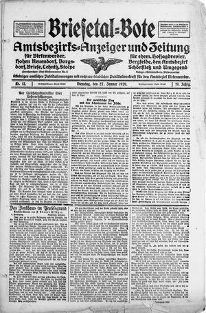 Briesetal-Bote vom 27.01.1920