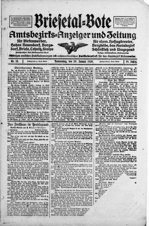 Briesetal-Bote vom 29.01.1920