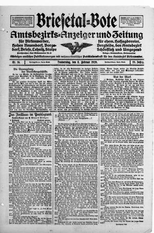 Briesetal-Bote vom 05.02.1920