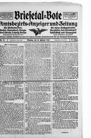 Briesetal-Bote vom 10.02.1920