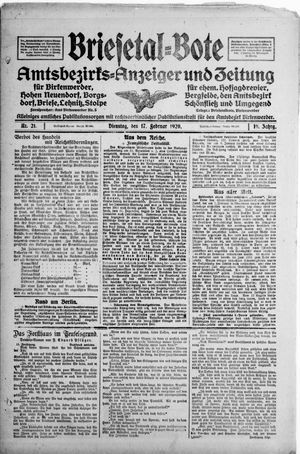 Briesetal-Bote vom 17.02.1920