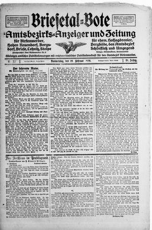 Briesetal-Bote vom 19.02.1920