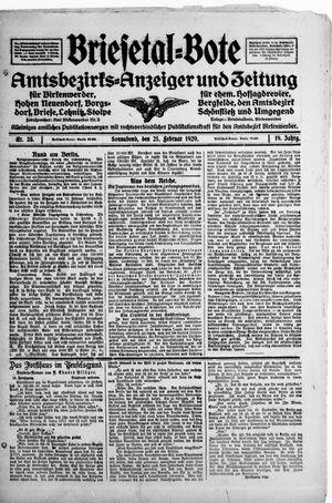 Briesetal-Bote on Feb 21, 1920