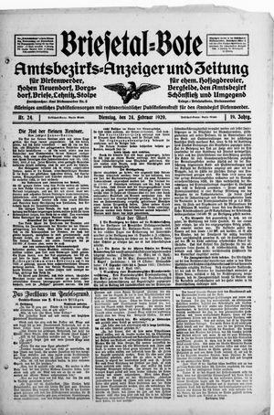 Briesetal-Bote vom 24.02.1920