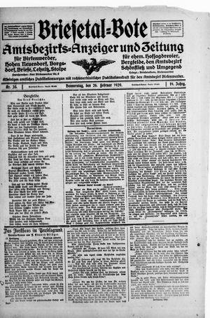 Briesetal-Bote on Feb 26, 1920