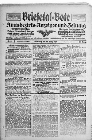 Briesetal-Bote vom 11.03.1920