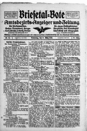 Briesetal-Bote vom 18.03.1920
