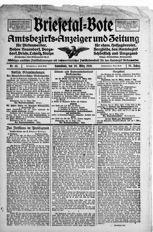 Briesetal-Bote vom 20.03.1920