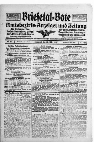 Briesetal-Bote vom 27.03.1920