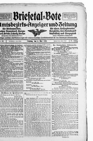 Briesetal-Bote vom 04.05.1920