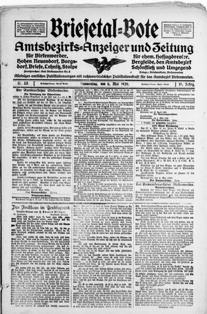 Briesetal-Bote vom 06.05.1920