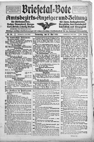 Briesetal-Bote vom 13.05.1920