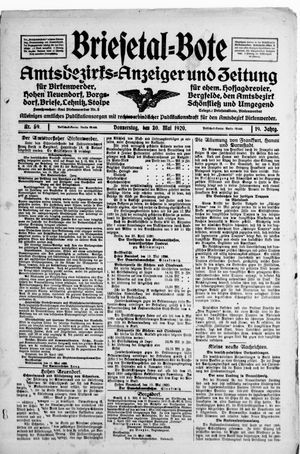 Briesetal-Bote vom 20.05.1920