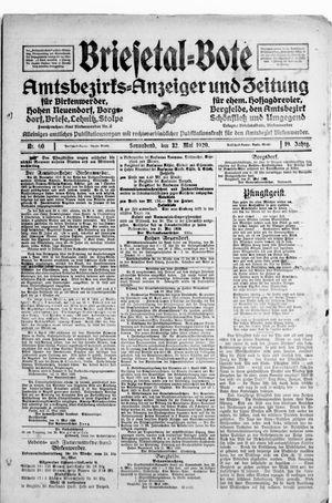 Briesetal-Bote vom 22.05.1920