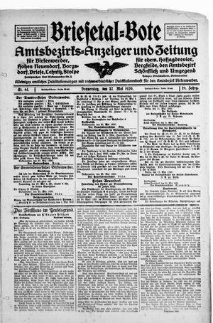 Briesetal-Bote vom 27.05.1920