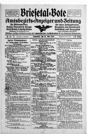 Briesetal-Bote vom 29.05.1920