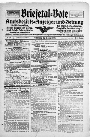 Briesetal-Bote vom 03.06.1920