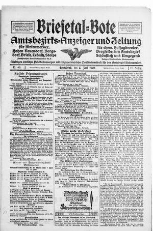 Briesetal-Bote vom 05.06.1920