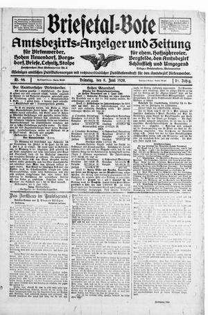 Briesetal-Bote vom 08.06.1920