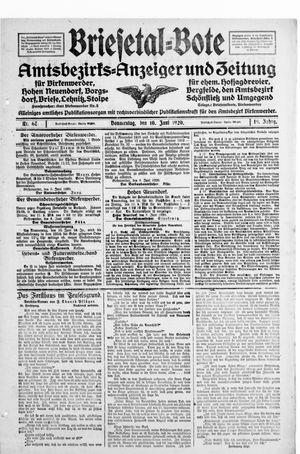 Briesetal-Bote vom 10.06.1920