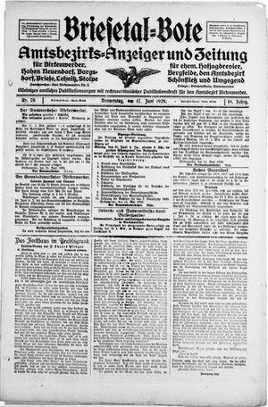Briesetal-Bote vom 17.06.1920
