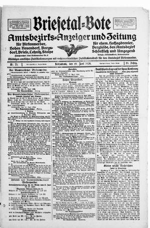 Briesetal-Bote vom 19.06.1920