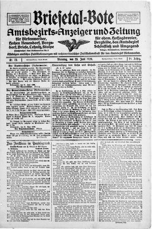 Briesetal-Bote vom 23.06.1920