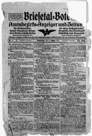 Briesetal-Bote vom 06.01.1921