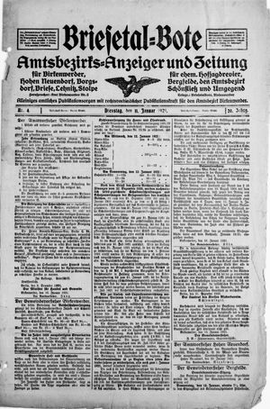 Briesetal-Bote vom 11.01.1921