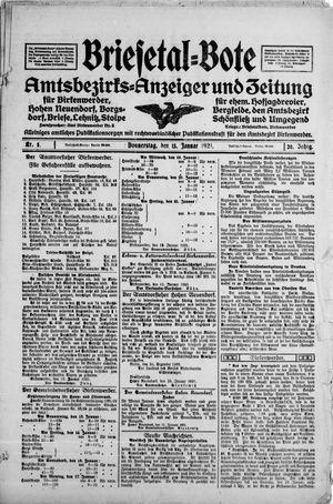 Briesetal-Bote vom 13.01.1921