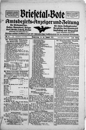 Briesetal-Bote vom 20.01.1921
