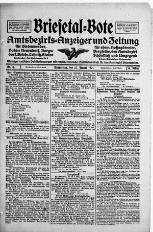 Briesetal-Bote vom 27.01.1921