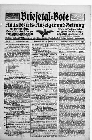 Briesetal-Bote on Jan 29, 1921