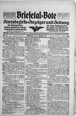 Briesetal-Bote vom 10.02.1921