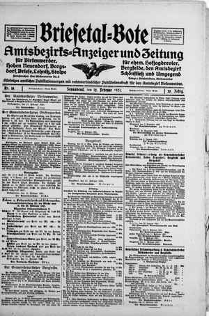 Briesetal-Bote vom 12.02.1921