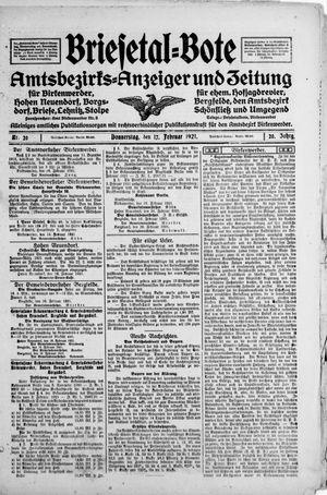 Briesetal-Bote vom 17.02.1921