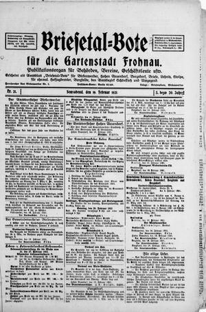 Briesetal-Bote vom 19.02.1921