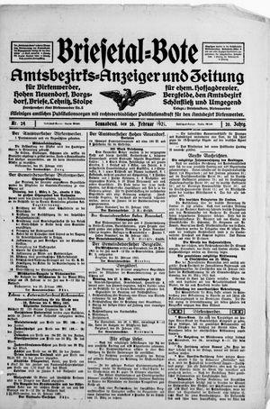 Briesetal-Bote vom 26.02.1921