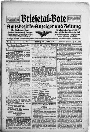 Briesetal-Bote vom 01.03.1921