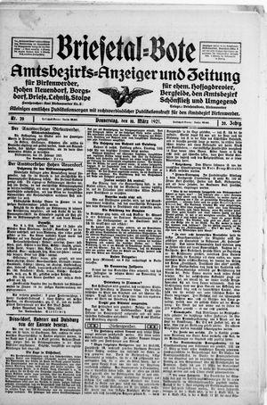 Briesetal-Bote vom 10.03.1921